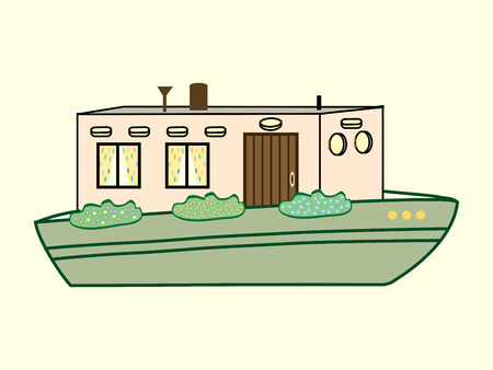 transport icon: river house color water transport icon symbol Illustration