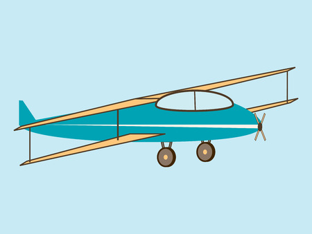airplane wing: airplane wing agricultural aircraft transport aviation flight retro