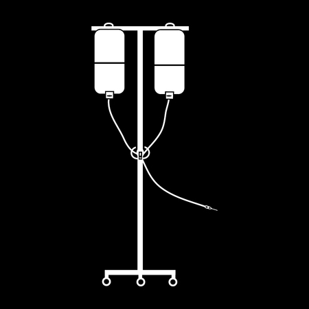 Apparatus for blood transfusion and medicines medical technology black white silhouette graphics