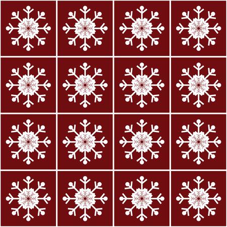 christmas snowflakes: Christmas snowflakes on red background seamless pattern vector pattern
