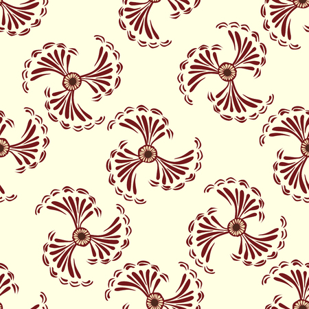 vector background: Red flowers abstract seamless pattern vector background