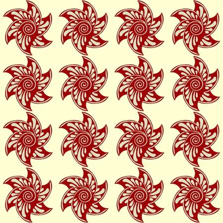 doğa arka: Red flowers abstract nature seamless pattern  Çizim