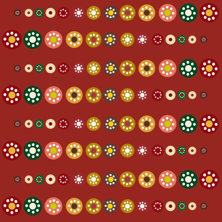 vector background: Abstract seamless red pattern season holidays vector background