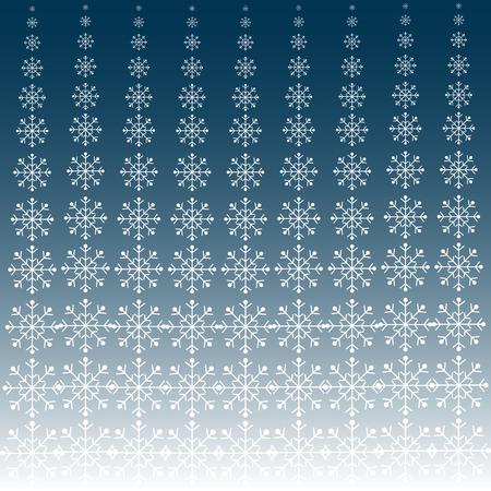 blue snowflakes: White snowflakes on blue background winter pattern. Christmas theme Illustration