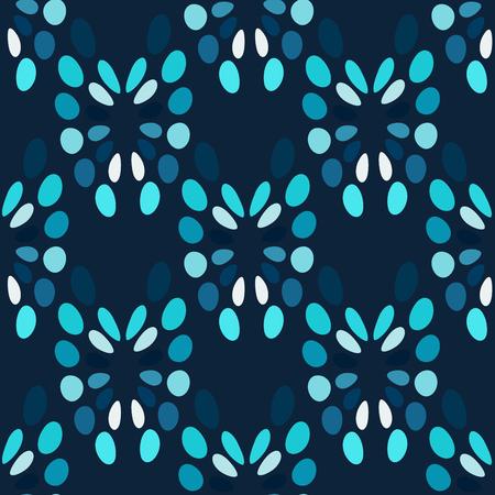 blue circles: Blue circles abstract seamless pattern. Dark vector background Illustration