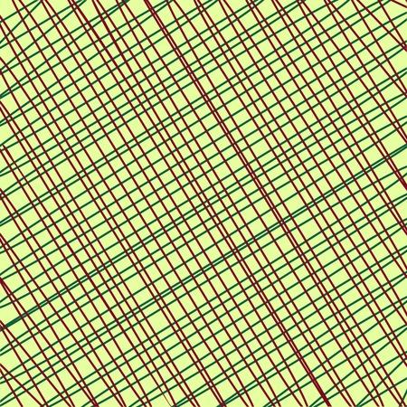 hilo rojo: textiles fondo de la vendimia retro. Hilo rojo amarillento tela
