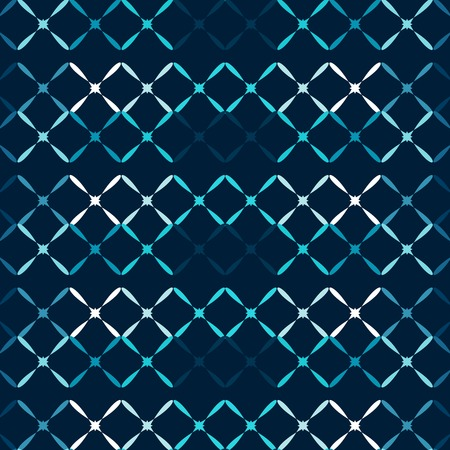 vector pattern: Blue metal grid abstract background seamless vector pattern
