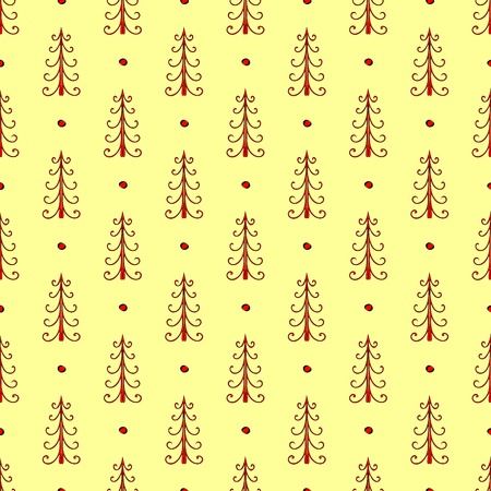 siberia: Natural spruce forest seamless pattern vector ethnic ornament