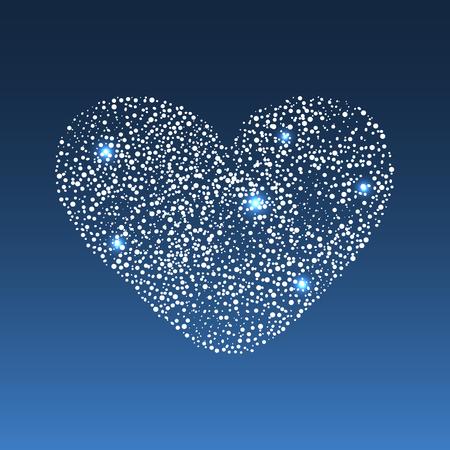 coeur diamant: Star diamond heart. Star diamond heart. A symbol of love and romance. Wedding and Valentines day Illustration