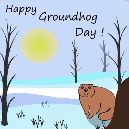 winter solstice: Happy Groundhog day. Marmots emerged from burrows