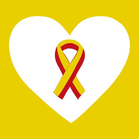 Journée mondiale contre l'hépatite Juillet 28 ruban rouge jaune. journée mondiale Vector illustration contre l'hépatite.
