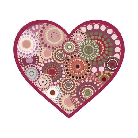 romance: Vector romance vintage heart greeting card. Vintage background for Valentines Day love romance wedding Illustration
