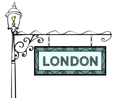 lamppost: London retro vintage lamppost pointer. London Capital United Kingdom Great Britain Northern Ireland England tourism travel.