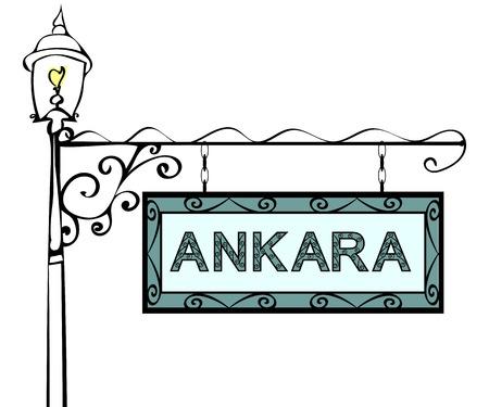 forge: Ankara retro pointer lamppost. Ankara Capital Turkey tourism travel.