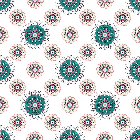 bright color: Ethnic seamless pattern. Vector texture Floral seamless backgrounds