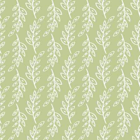 a sprig: Vector sprig Seamless pattern green background. Abstract illustration hand drawn. Illustration