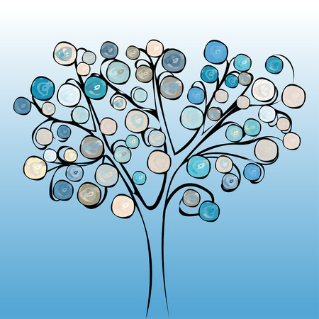 Tree colorful abstract background. Vector illustration design.