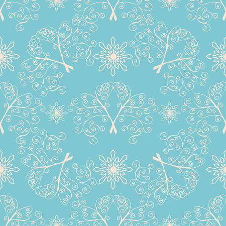 Winter Christmas seamless pattern. Vector illustration background.