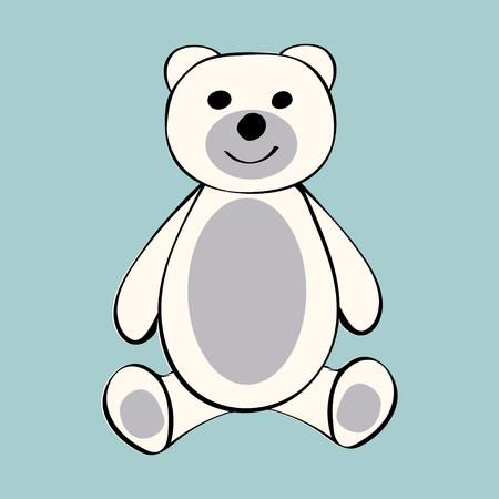 White Bear funny cartoon animal toy.