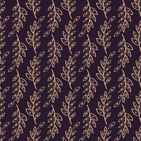 a sprig: sprig Seamless pattern background. Abstract illustration hand drawn.
