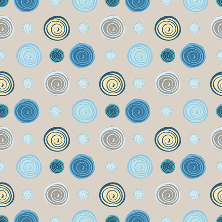 river rock: Abstract circles seamless pattern background. Vector illustration.