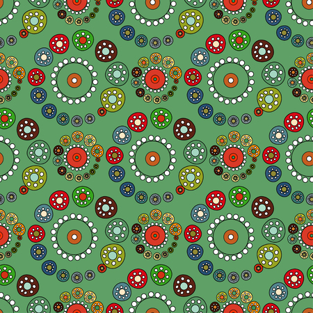 Bright Green seamless pattern. Vector illustration background.