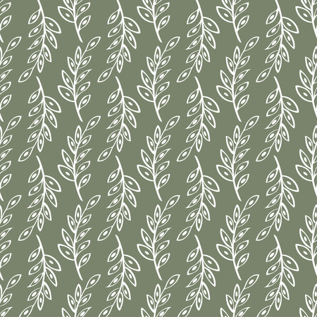 a sprig: Vector sprig Seamless pattern background. Abstract illustration hand drawn.