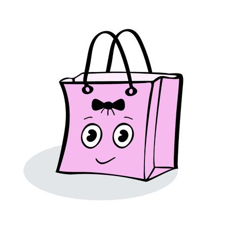 wrap: Sweet girl pink gift wrap package sale. Illustrator vector
