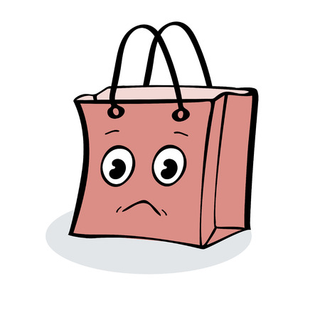 wrap: Sad gift wrap package sale. Illustrator vector Illustration