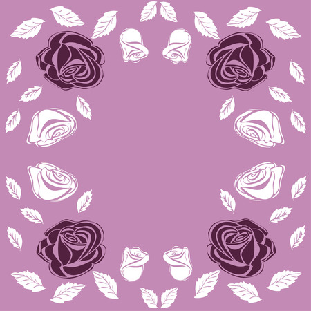 greeting card background: Greeting card roses wedding birthday holiday background.