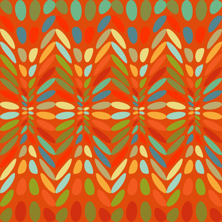 flamboyant: Ovals colorful abstract background. Illustration