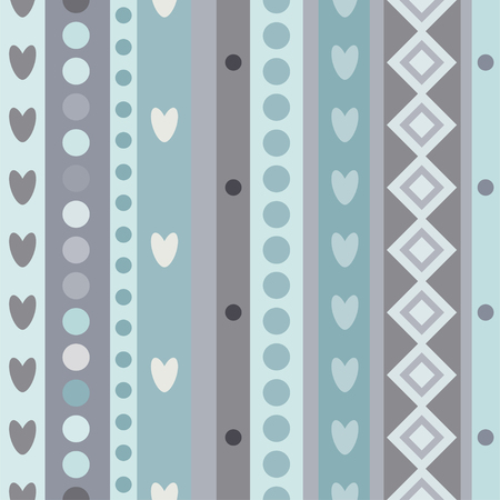 grey cat: Bright Colorful seamless stripes pattern in blue.