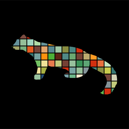 marten: Marten wildlife color silhouette animal