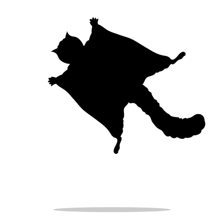 Flying squirrel black silhouette animal