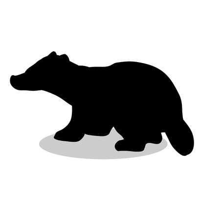 badger: Badger mammal black silhouette animal
