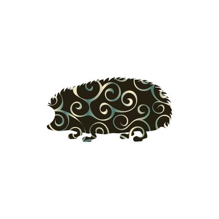 prickles: Hedgehog wildlife color silhouette animal