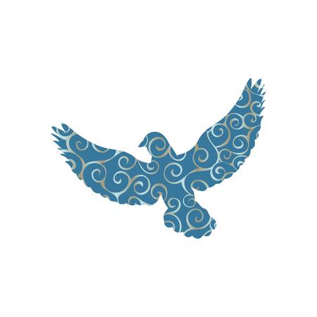 Pigeon bird color silhouette animal