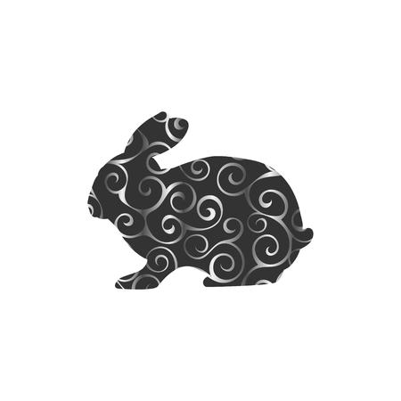 Bunny Nagetier Farbe Silhouette Tier Vektorgrafik