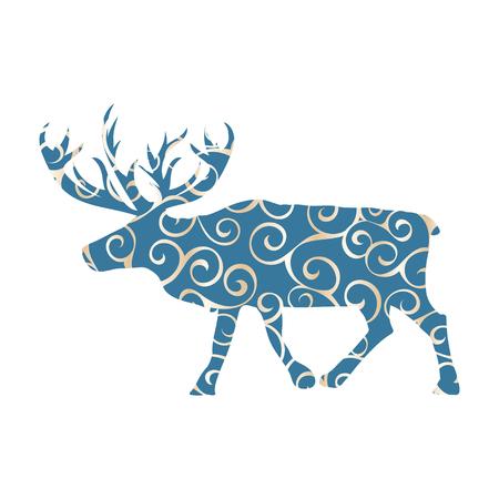 Deer northern color silhouette animal