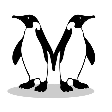 Penguin friendship symbol loyalty Illustration
