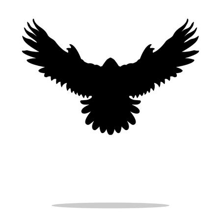 Falcon pájaro negro silueta animal
