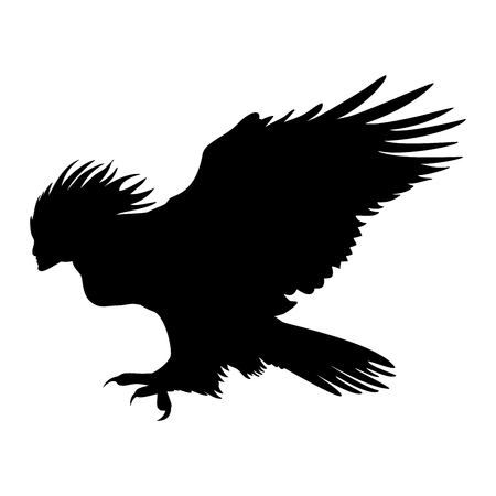 Harpy silhouette ancient mythology fantasy