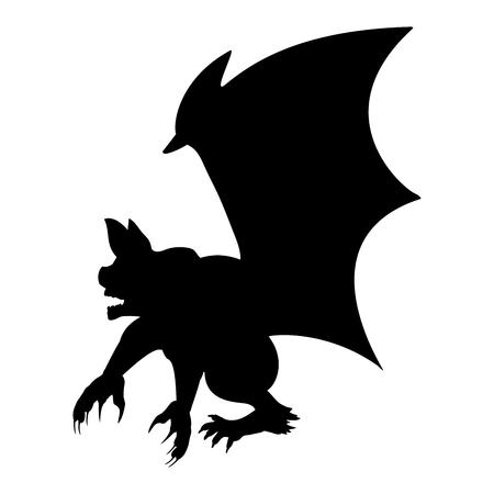 jorobado: Gargoyle Chimera silhouette ancient mythology fantasy.