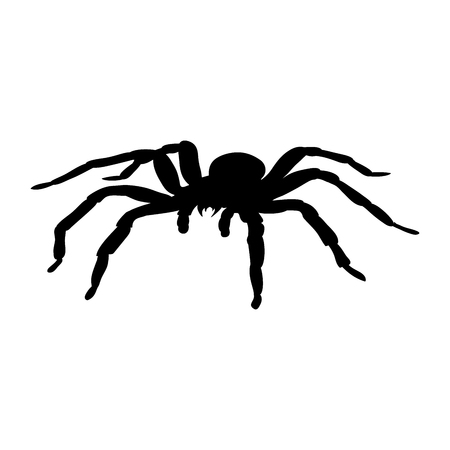 Spider monster silhouet oude mythologie fantasie. Stock Illustratie