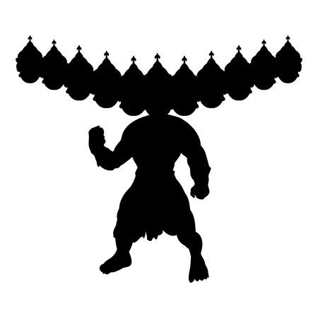 Ramayana silhouette spiritualité religion traditionnelle. Banque d'images - 87874663