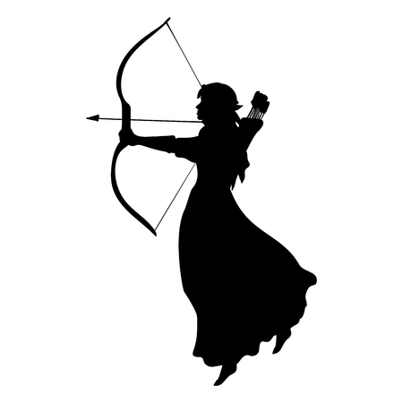 Elf silhouette ancient mythology fantasy. Imagens - 87875671