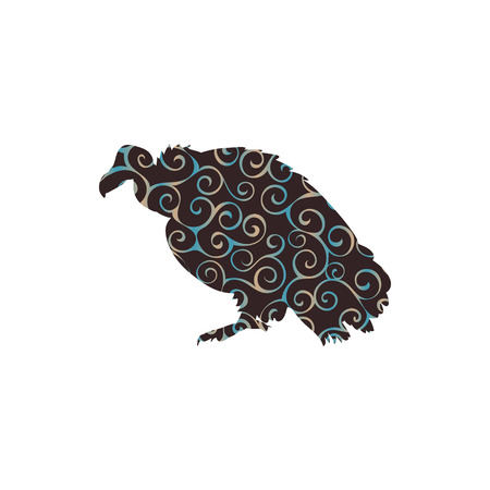 Vulture bird spiral pattern color silhouette animal