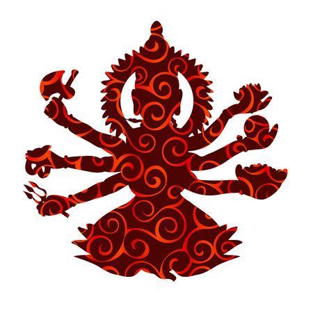 Shiva pattern silhouette traditional religion spirituality