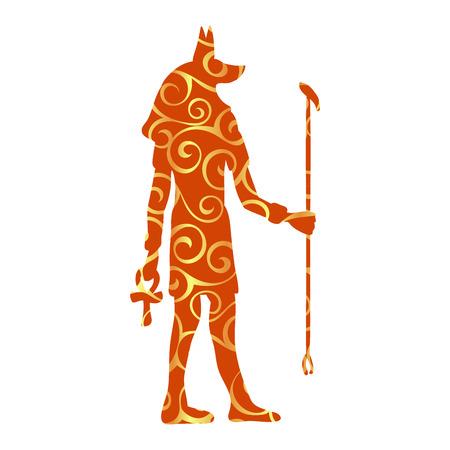 God Anubis egypt egyptian pattern silhouette ancient egypt Illustration