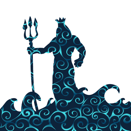 Poseidon god pattern